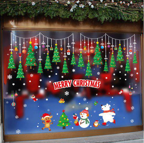 Christmas Window Glass Self-Adhesive Paper - multicolor A