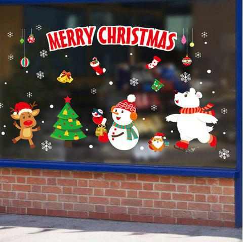 Christmas Window Glass Self-Adhesive Paper - multicolor D