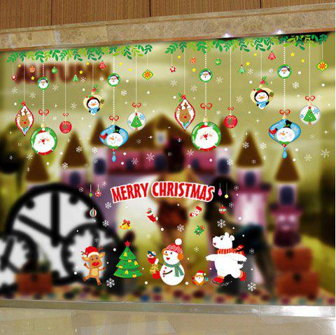 Christmas Window Glass Self-Adhesive Paper - multicolor B