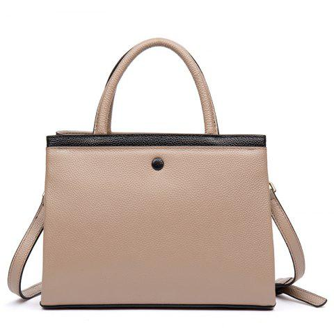 Cowhide on The Head. Retro-Colored Lady Handbag Chic - BLANCHED ALMOND