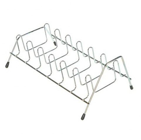 Kitchen Shelf Bowl Rack Stainless Steel Bowl Rack - SILVER