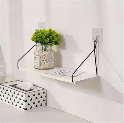 Solid Wood Shelf on The Wall Living Room Partition Board - WHITE L