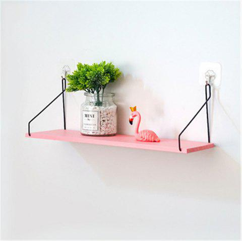 Solid Wood Shelf on The Wall Living Room Partition Board - PINK S