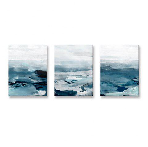 W743 Marine Pattern Unframed Wall Canvas Prints for Home Decorations 3PCS - multicolor A 40*60CM*3PS