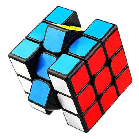 Classic Colorful Three Layers Competition Speed Cube Puzzle Toy - multicolor