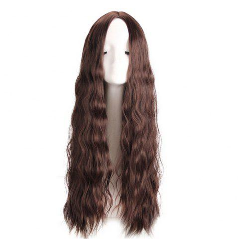 Synthetic Hair Lace Front Wig for Women Loose Wave Density Pre Plucked Hairline - BROWN