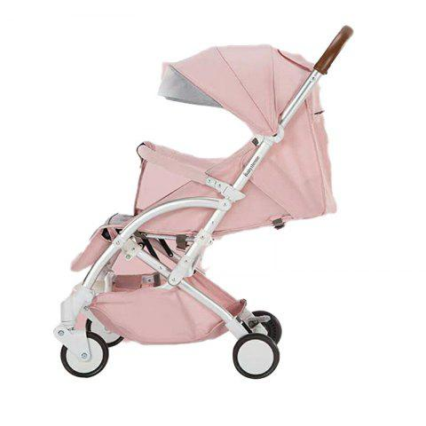 Baby Stroller Lightweight Folding Can Sit Reclining Portable Mini Car Child Baby - PINK