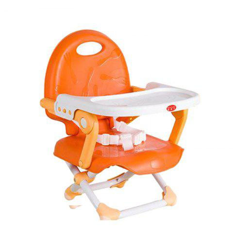 Multifunctional Folding Portable Baby Dining Chair - ORANGE