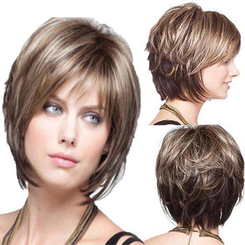 Simulated Wig Fashion Women S Wig Micro-Curly Short Women S Wig - GINGER  BROWN 1PC d45e9e9ae