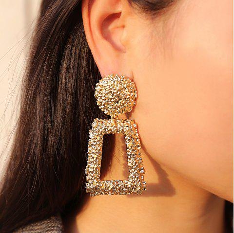 Simple Square Cutout Earrings - GOLD 1 PAIR