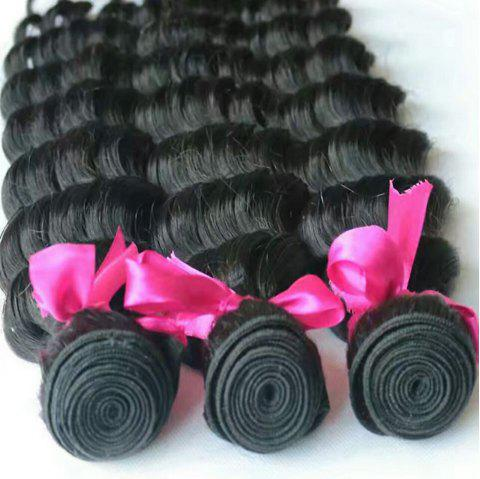 8-inch Five-Fingered Black Curly Hair - BLACK 18INCH