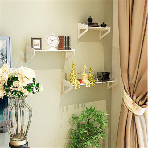 3PCS Bedroom Decoration Simple Punch-Free Rack - WHITE