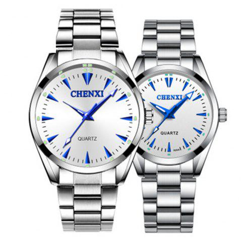 Chenxi Classic Business Leisure Stainless Steel Waterproof Quartz Lovers Watch - multicolor B FOR WOMEN