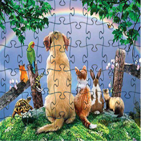 3D Jigsaw Paper Puzzle Cool Soft Block Assembly Birthday Toy for Children - multicolor