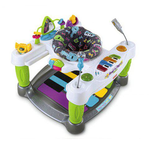 Baby Multi-Function Luxury Piano Fitness Music Early Teaching Walker - multicolor A