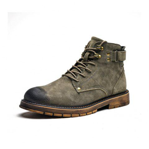 Autumn High Boots Men'S Desert Boots in The British Boots - ARMY GREEN EU 41