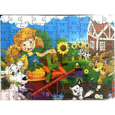 3D Jigsaw Paper Speical View Puzzle Block Assembly Birthday Toy - multicolor