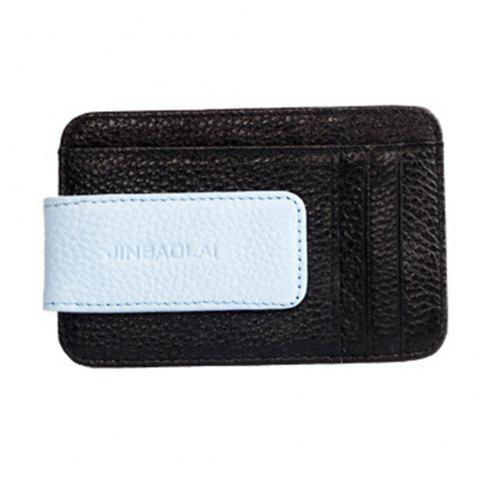 Men's card bags have multiple card positions that are leather. - BLACK