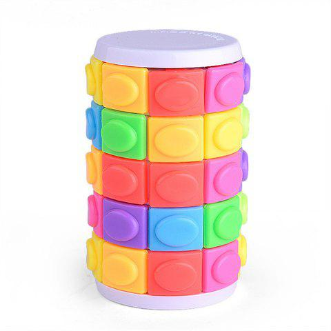 Color Magic Tower Decompression Cube Toy - multicolor