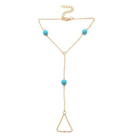 Creative Multi-Color Pearl Anklet - BLUE 1PC