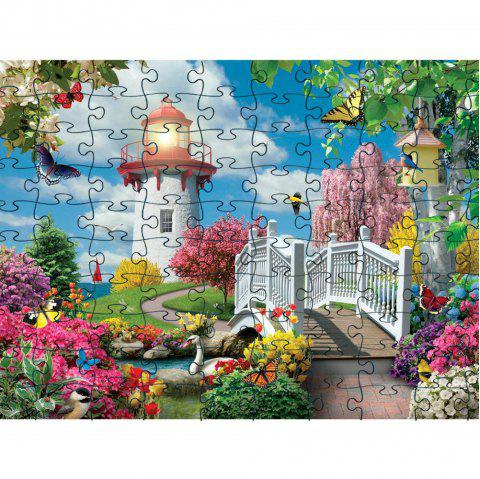 3D Jigsaw Paper Soft Beautiful Puzzle Block Assembly Birthday Toy - multicolor