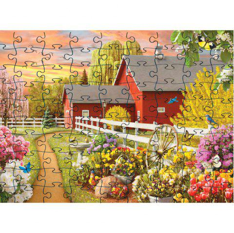 Cool  Elegant 3D Jigsaw Paper Puzzle Block Assembly Birthday Toy - multicolor