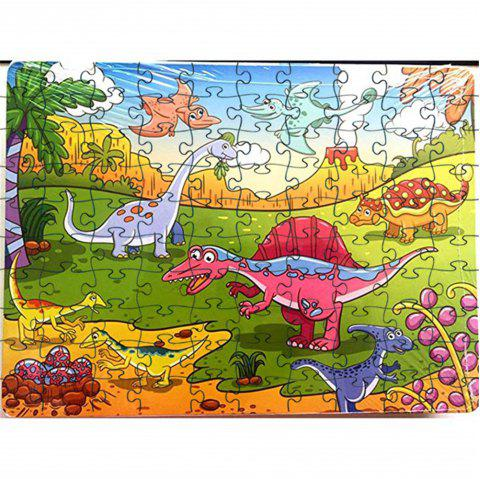 Old Animals 3D Jigsaw Paper Puzzle Block Assembly Birthday Toy - multicolor