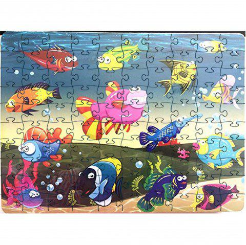 Colorful Ocean World 3D Jigsaw Paper Puzzle Block Assembly Birthday Toy - multicolor