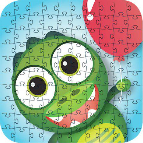 Green Frog 3D Jigsaw Paper Puzzle Block Assembly Birthday Toy - multicolor
