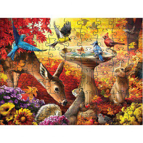Birds 3D Jigsaw Paper Puzzle Block Assembly Birthday Toy - multicolor