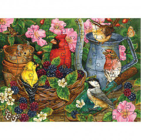 Birds Eating 3D Jigsaw Paper Puzzle Block Assembly Birthday Toy - multicolor