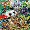 3D Jigsaw Paper Tiger and Panda Puzzle Block Assembly Birthday Toy - multicolor