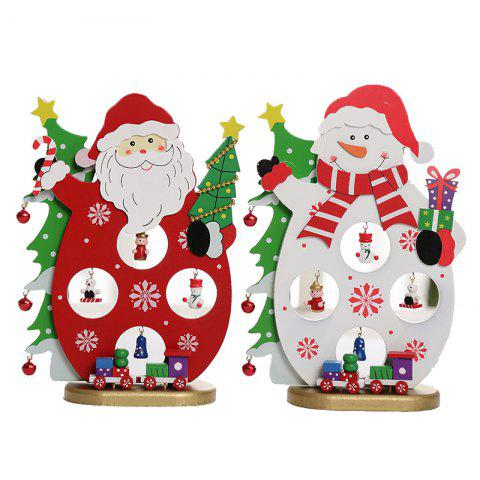 Santa Claus Gift Supplies Hanging Hat Snowman Jewelry - multicolor A 1 SET