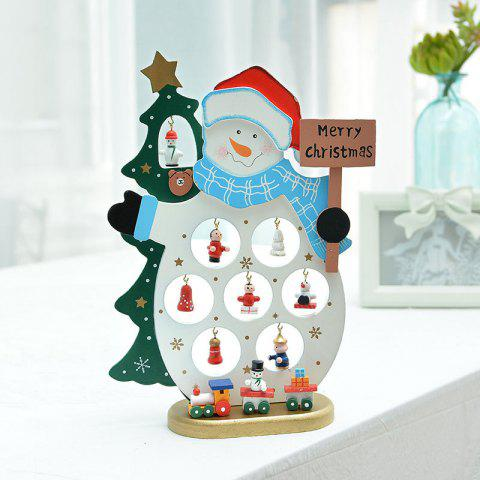 Santa Claus Gift Supplies Hanging Hat Snowman Jewelry - multicolor C 1 SET