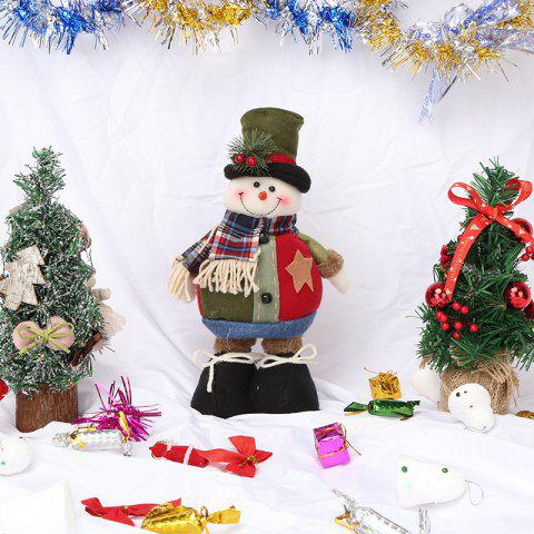 Christmas Retractable Old Man Doll Non-Woven Hanging Ornaments - DEEP GREEN 1PC