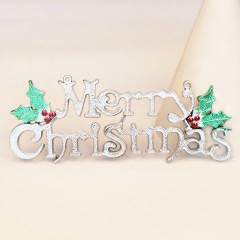 Christmas Three-Dimensional English Alphabet Card Christmas Tree Decoration Card - SILVER M