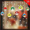 Christmas Ornament PVC Glass Seamless Static Sticker - multicolor P 1 SET