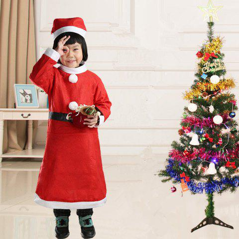 Children's Christmas Decoration Costumes - RED 1 SET