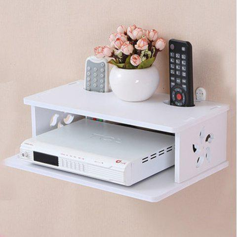 The Bauhinia Two-Layer Set-Top Box Storage Rack Wall Mount - WHITE