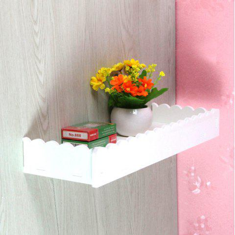 The Rustic Style Lace Wall-Mounted Rack - WHITE
