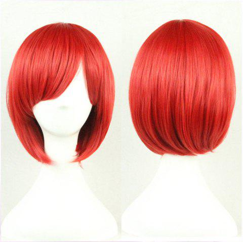 Anime Cos Wig Color Short Straight Hair Cosplay Wig Anime Wigs - ROSSO RED