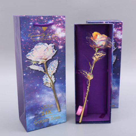 Gold Foil Rose Glowing Valentine'S Day Christmas Gift Single - multicolor A 27*7CM