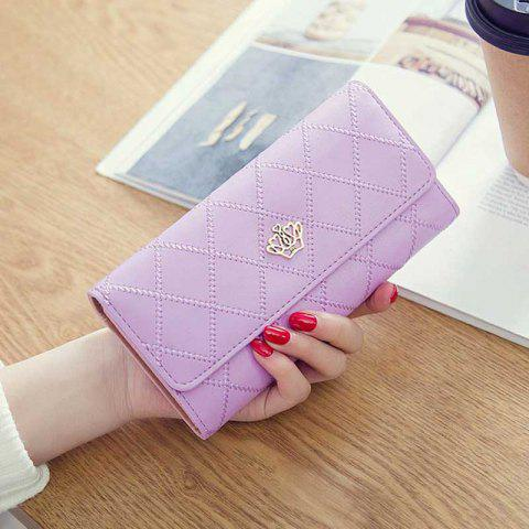 Linger Triple-Fold Crown Banknote Lady Holding Wallet and Bag - MAUVE