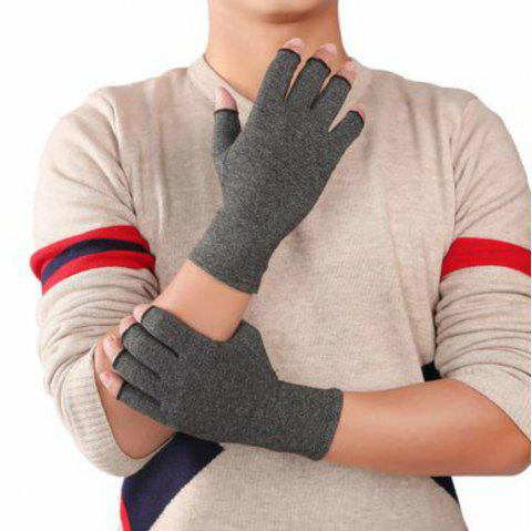 Men'S Sports Breathable Half-Fingered Gloves - ASH GRAY S