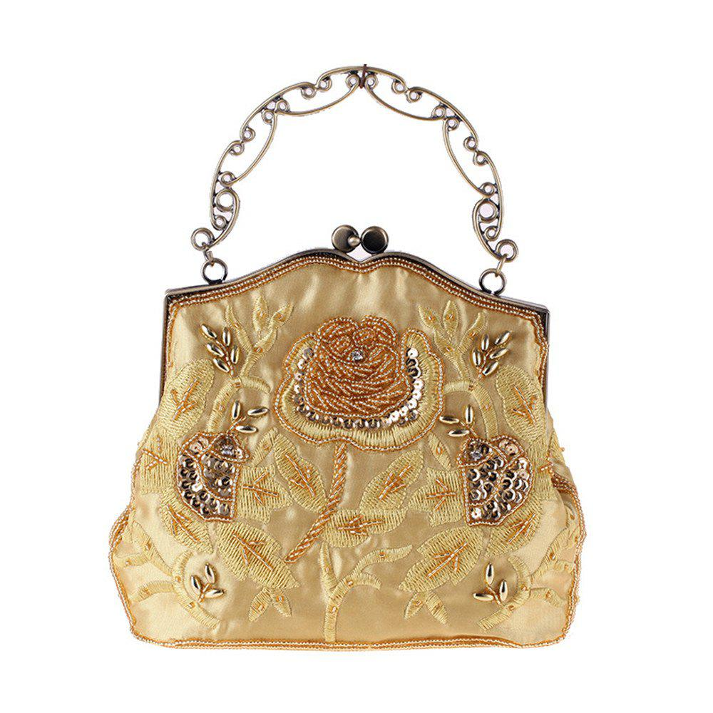 Ms Beaded Bag Dinner with The Bag in Polyester Embroidery Evening Bags - GOLD
