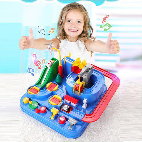 Interactive Toys Rescue City Car Park Obstacle Course Driving Game Construction - multicolor