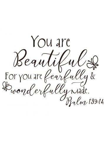 1f852f450 You Are Beautiful Butterfly Art Vinyl Mural Home Room Decor Wall Sticker