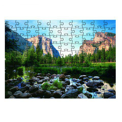 Rivers Mountains Nature Jigsaw Puzzle - multicolor
