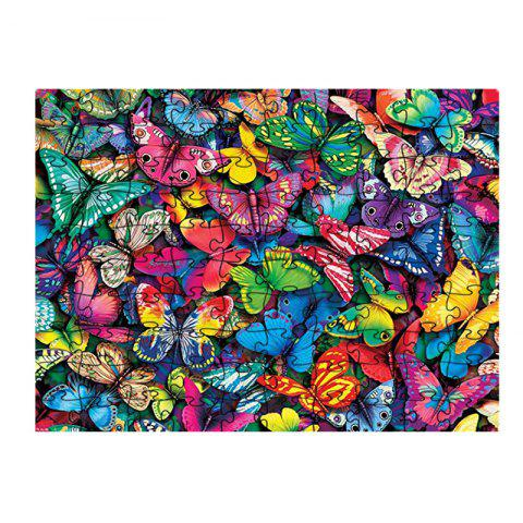 Colorful Butterfly Jigsaw Puzzle - multicolor