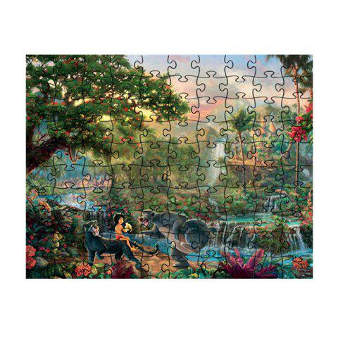 People with Big Straight Burning Beautiful Jigsaw Puzzles - multicolor